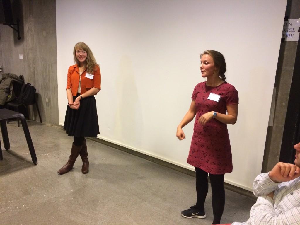 Charlotte Kongshavn og Anne Cathrine Strande Straubø fortalte om undervisningen på Hundsund Teknologiskole