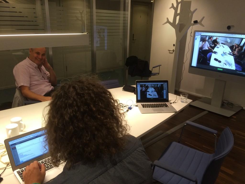 Er hvitt tre er et perfekt webcamstativ når en skal få et bra perspektiv!