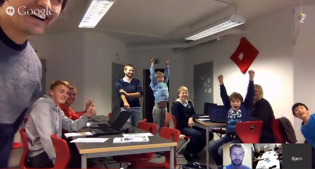 Stas å få hilse på barna som kodet i Tromsø!