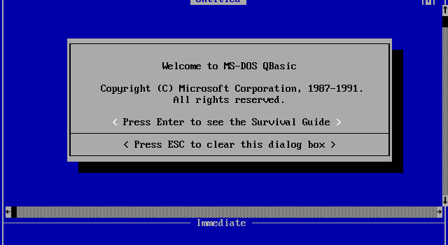 Blast from the past! Når barna må kode i QBASIC