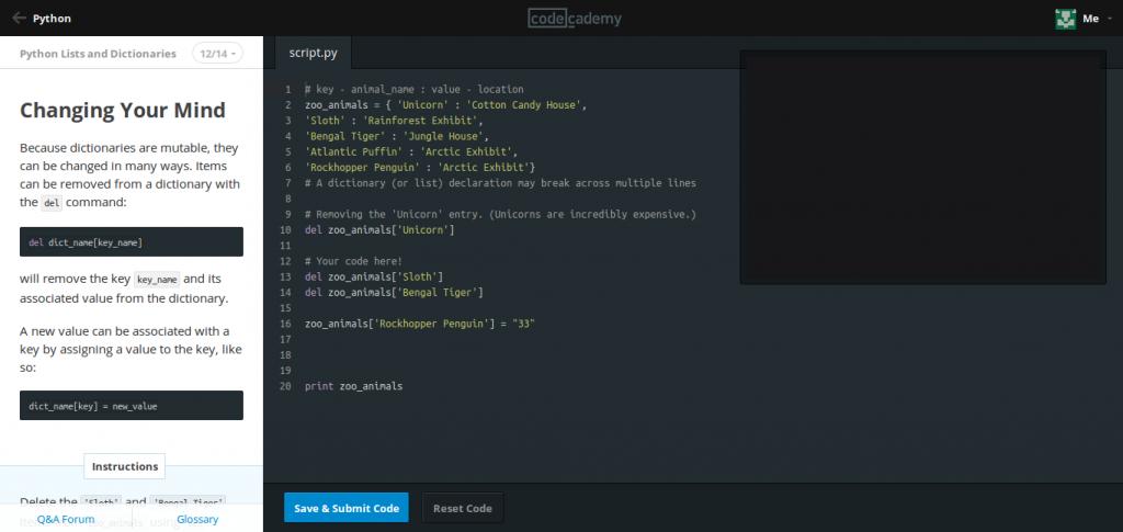 Codecademy lar deg skrive kode rett i nettleseren!