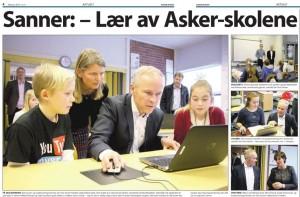 """""""IT-Ministeren"""" lærer å kode på Hofstad skole."""