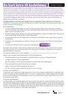 One-Page om kodetimen
